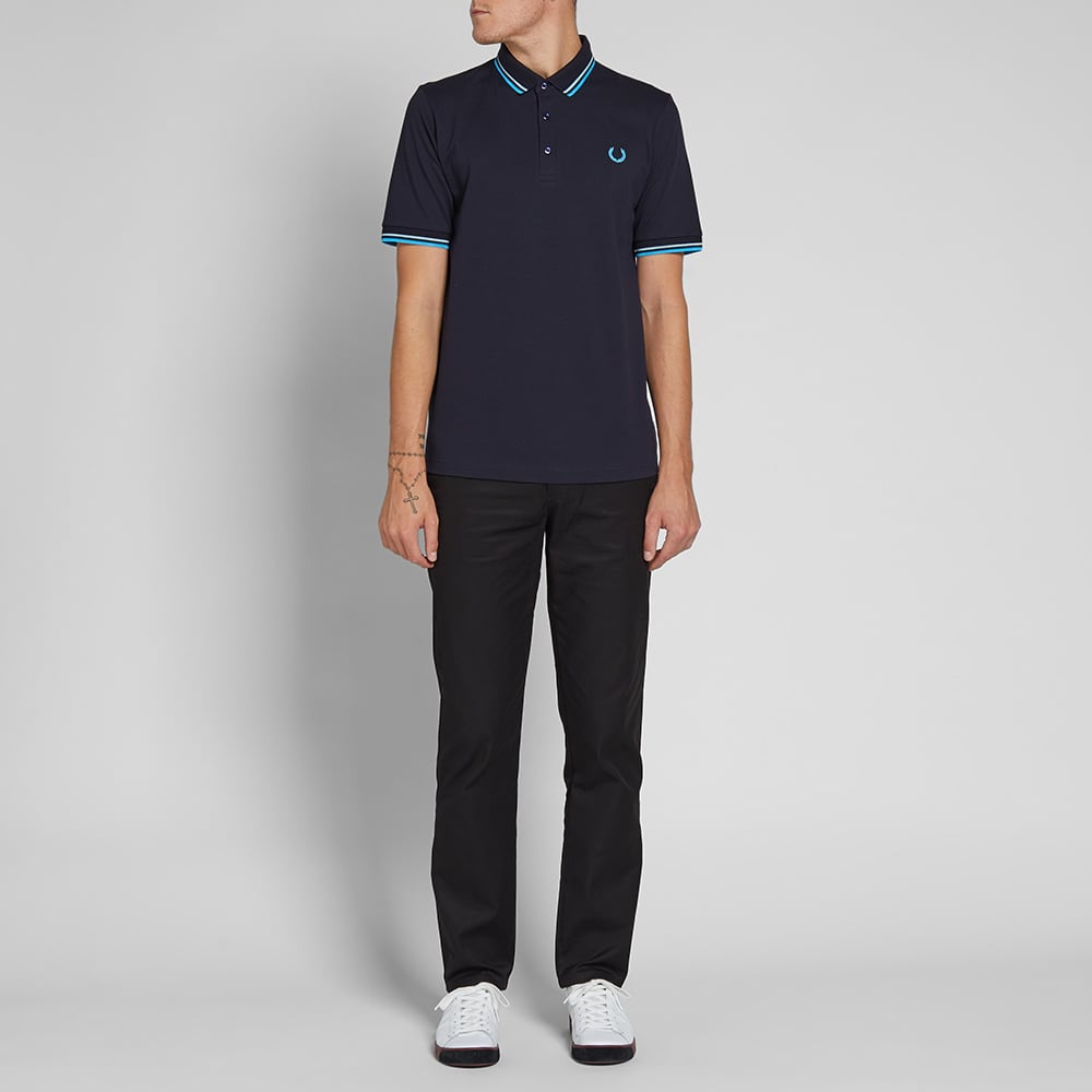 Fred Perry 'Made in Japan' Polo - Navy, Neon Aster & Neon Saxe