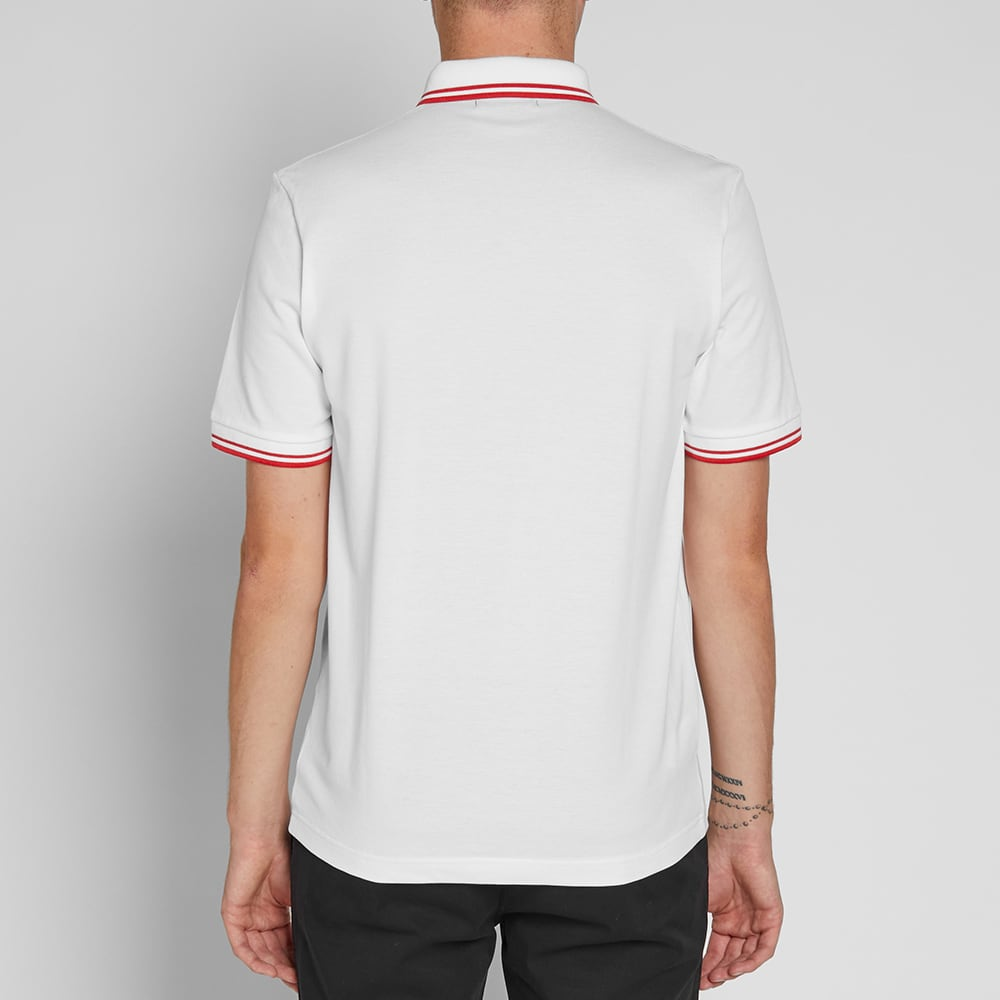 Fred Perry 'Made in Japan' Polo - White & Neon Red