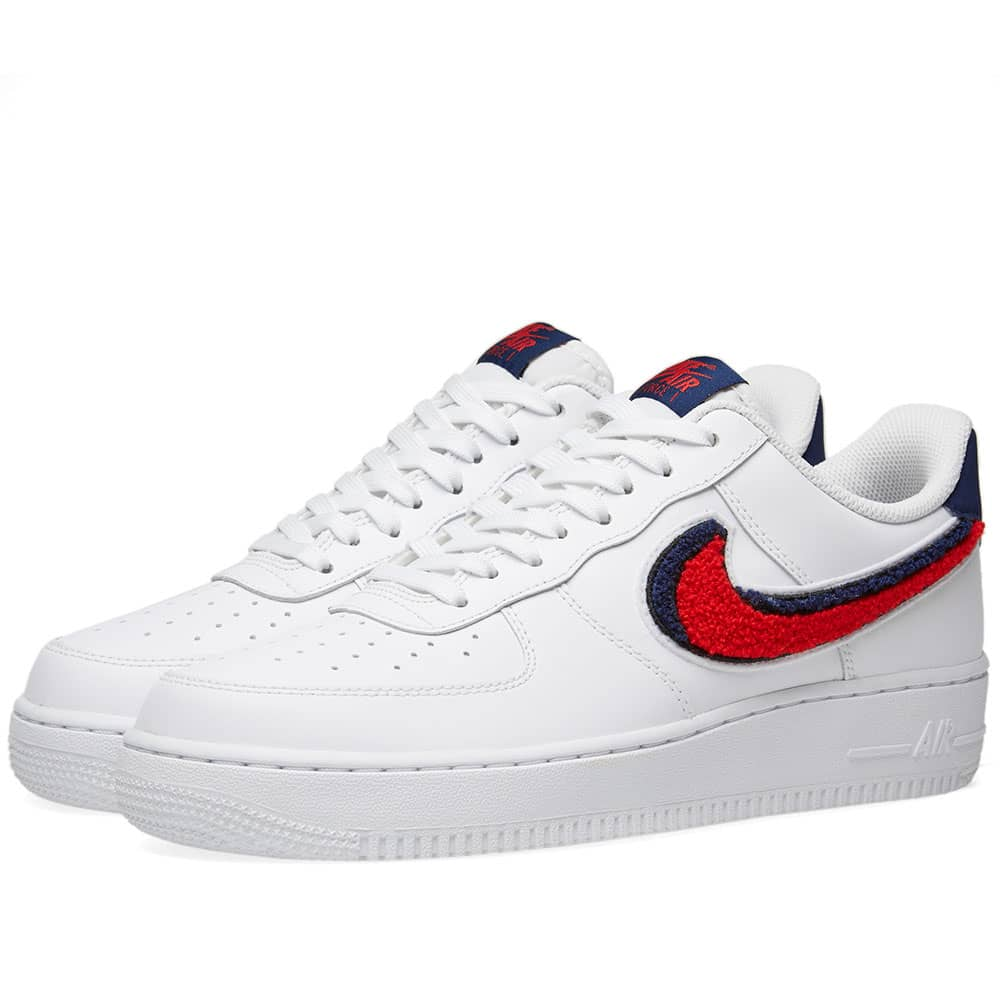 Nike Air Force 1 '07 LV8 - White, Red & Blue