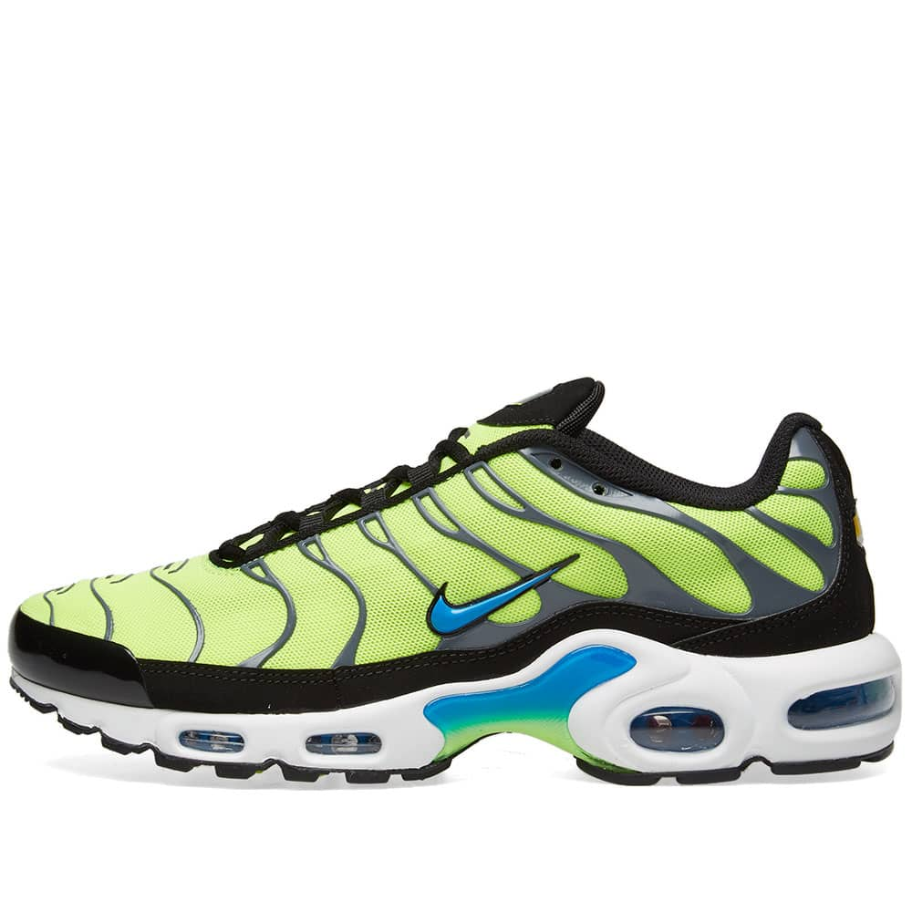 Nike Air Max Plus - Volt, Blue, Black & Grey