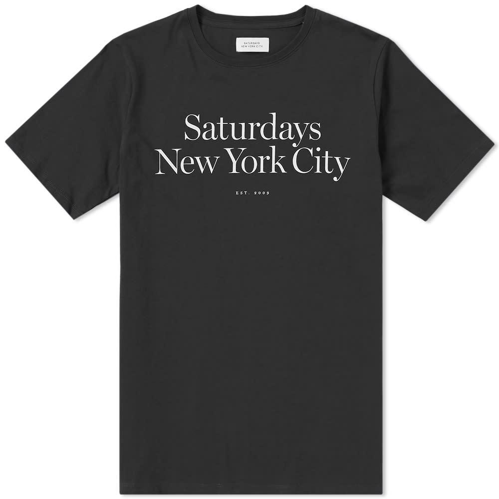 Saturdays NYC Miller Standard Tee - Black