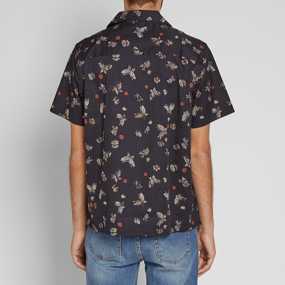 Saturdays NYC Short Sleeve Canty Butterfly Vacation Shirt - Lacquer Butterfly Print