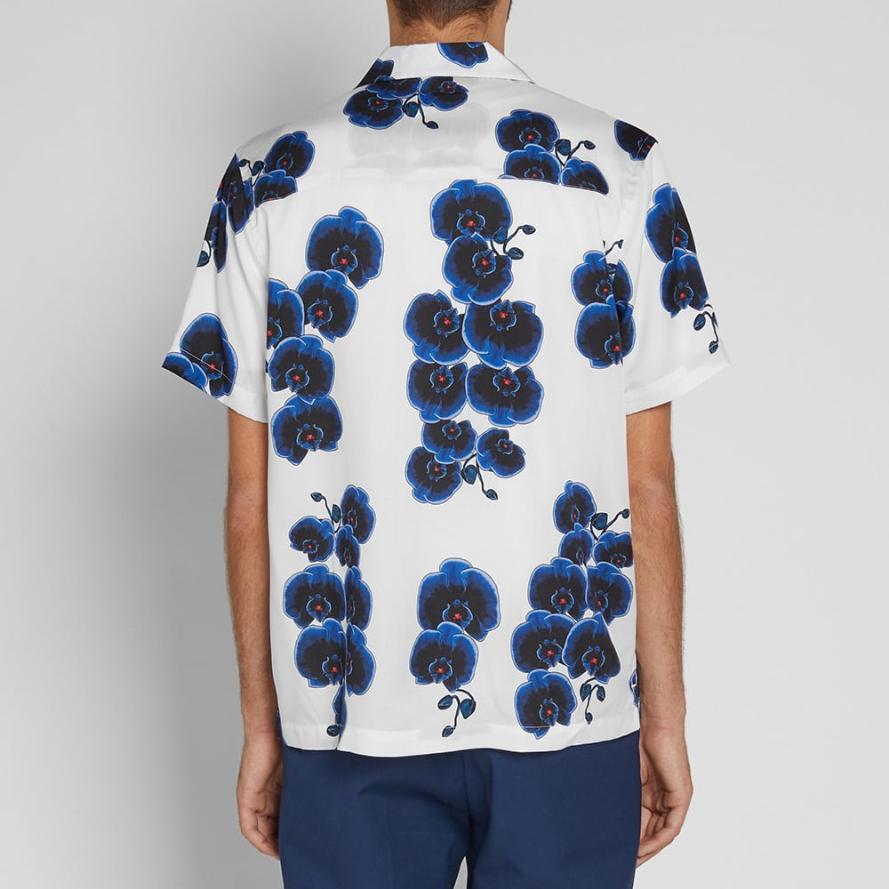 Saturdays NYC Short Sleeve Canty Orchid Vacation Shirt - White