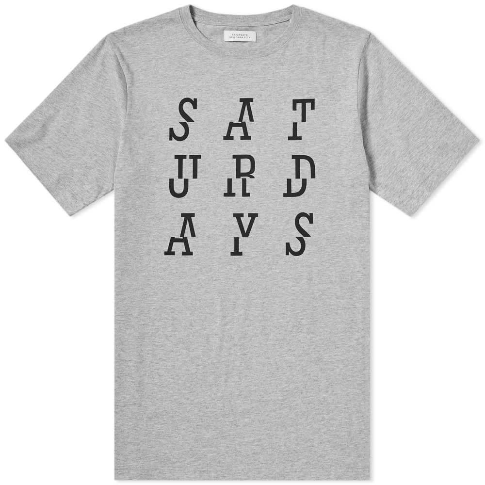 Saturdays NYC Split Tee - Ash Heather