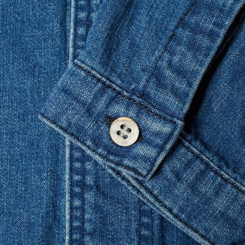 orSlow No Collar Shirt - Used Denim