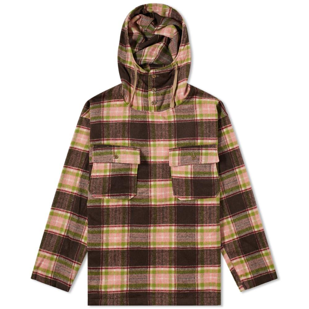 Engineered Garments Plaid Cagoule Shirt - Brown & Pink