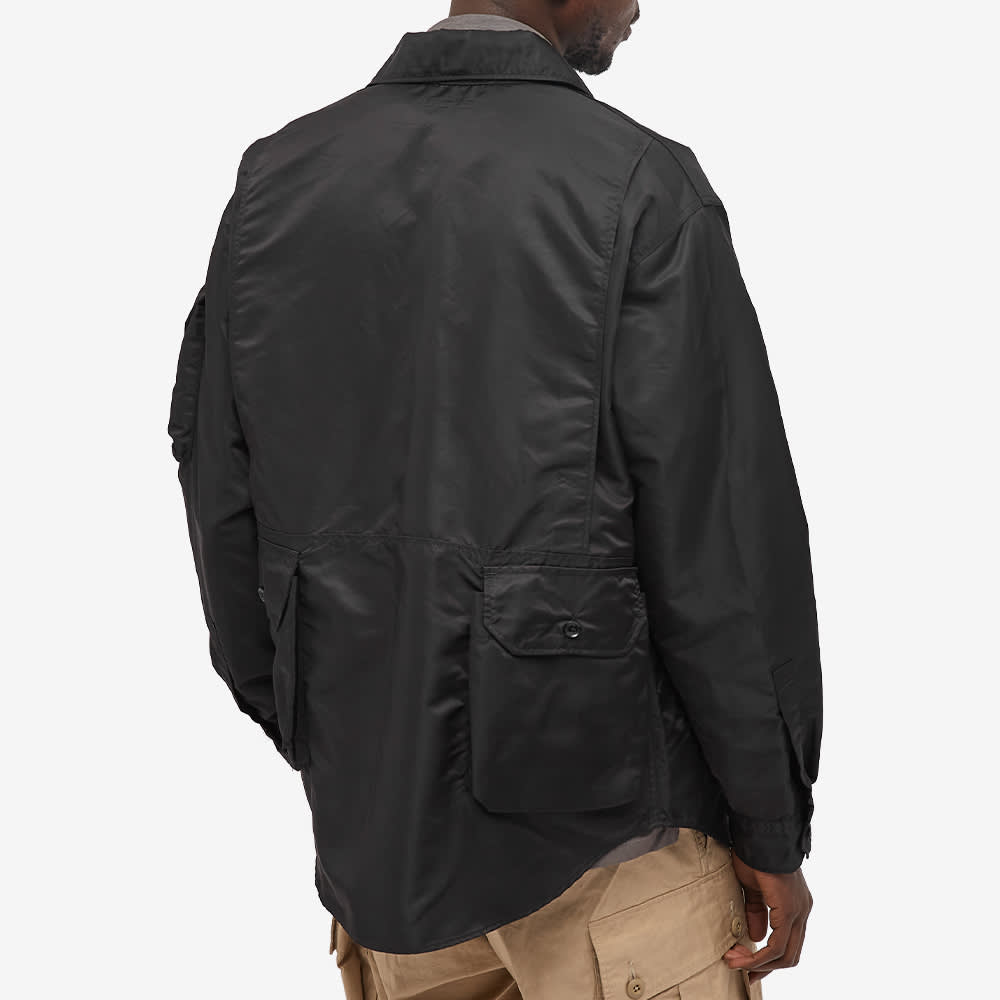 Engineered Garments Shirt Jacket - Black Flight Satin