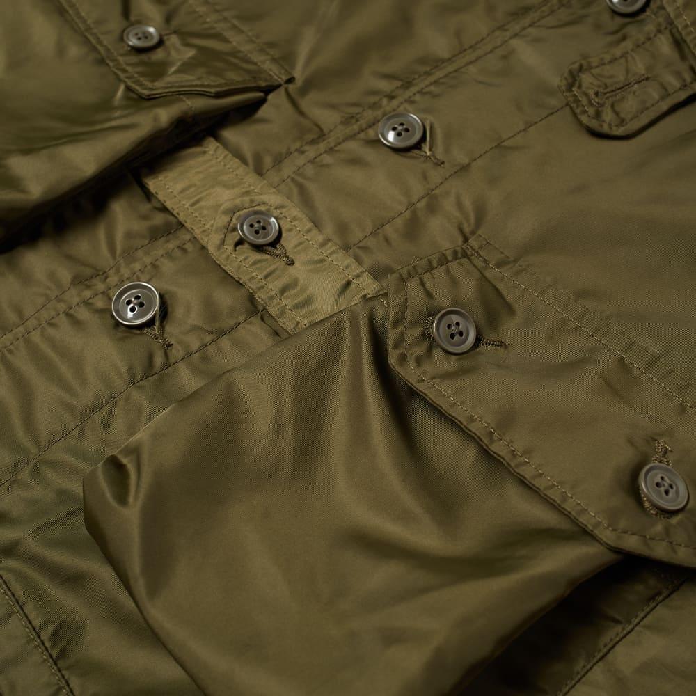 Engineered Garments Shirt Jacket - Olive Flight Satin
