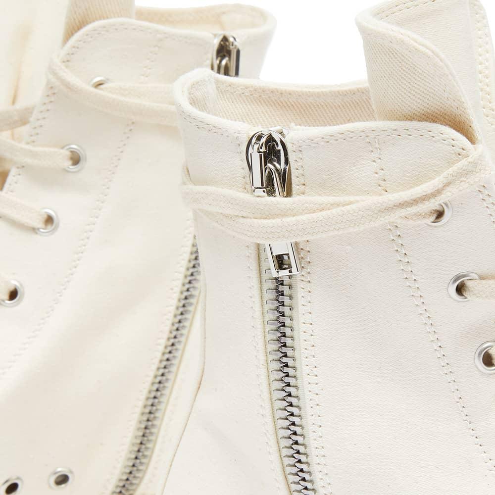 Rick Owens DRKSHDW Sneaks Cotton Nylon Logo Hi Top Sneaker - Natural & Milk