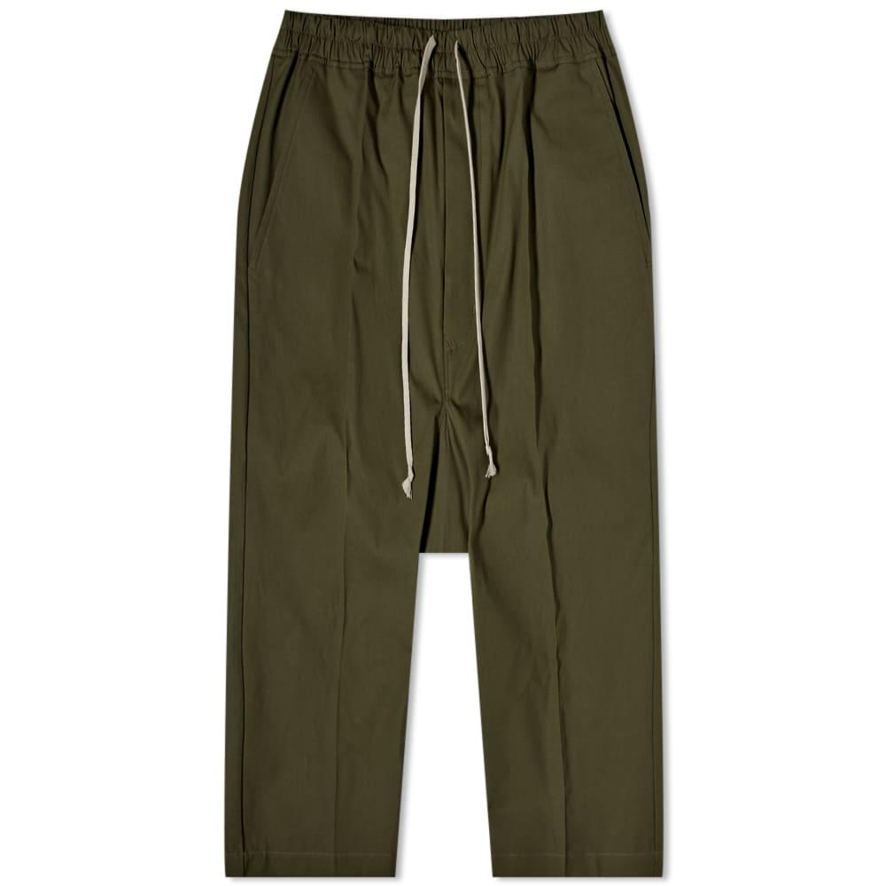 Rick Owens Drawstring Cropped Pant - Green