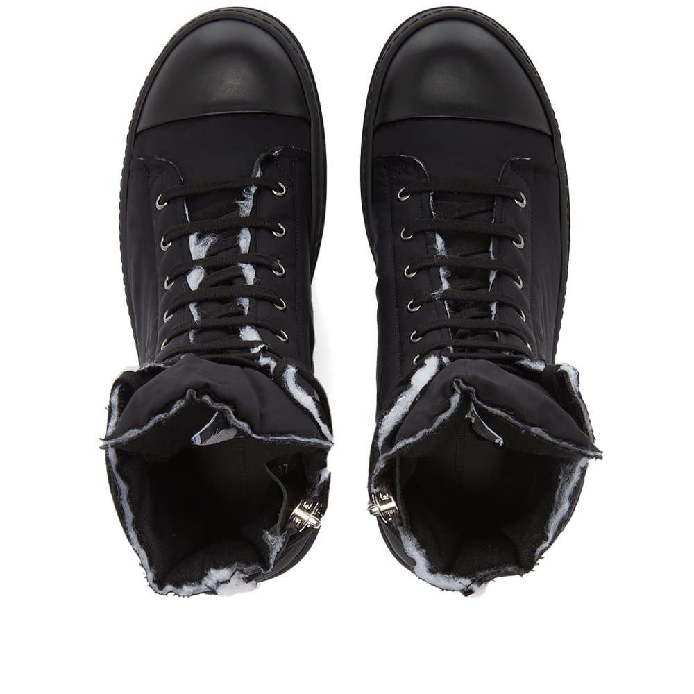 Rick Owens DRKSHDW Sneaks Cotton Nylon Hi Top Sneaker - Black
