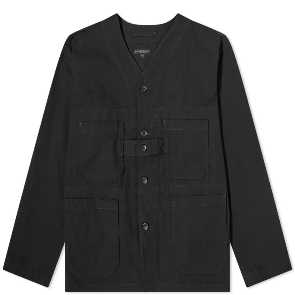 Engineered Garments Ripstop Cardigan Jacket - Black