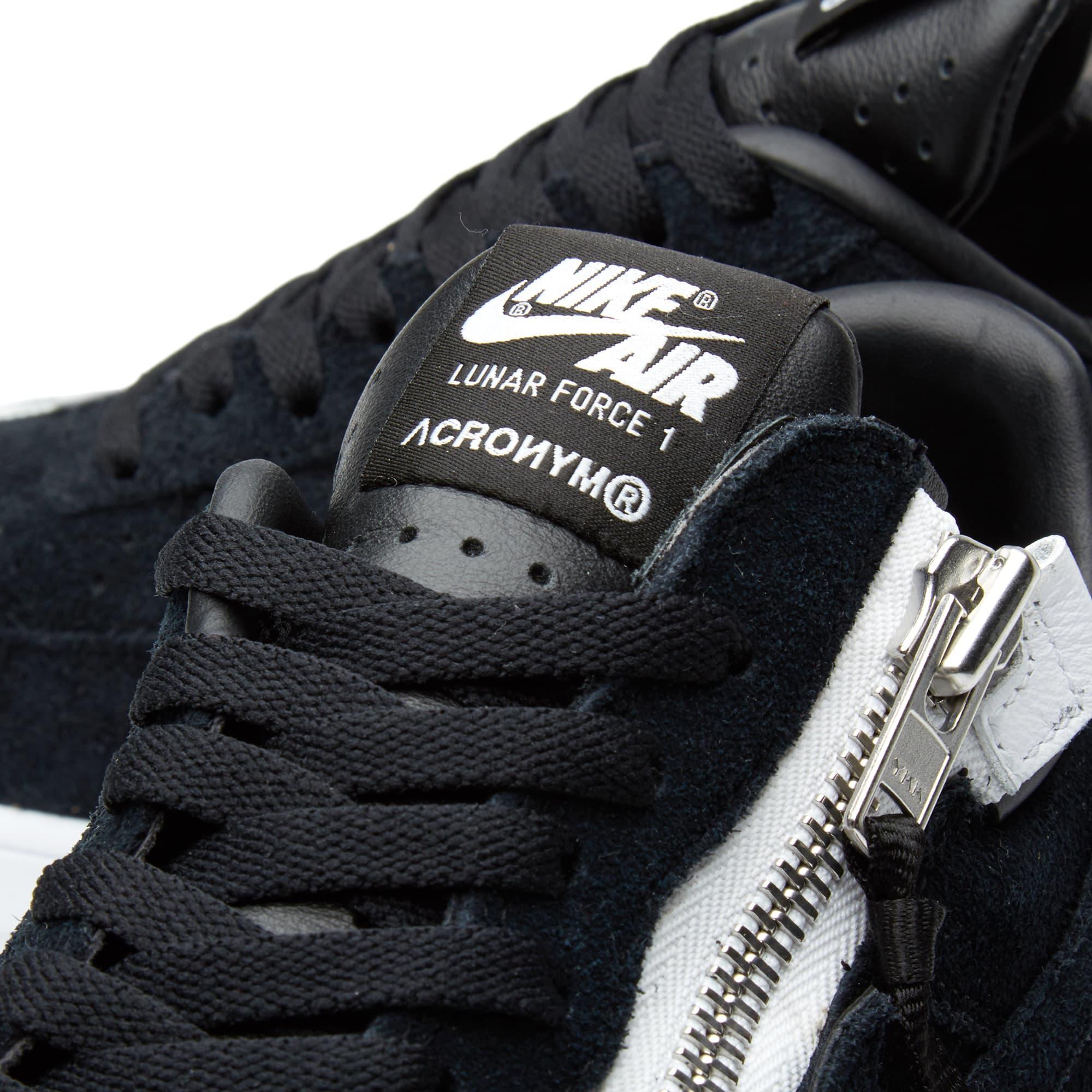 Nike x Acronym Lunar Force 1 SP - Black & White