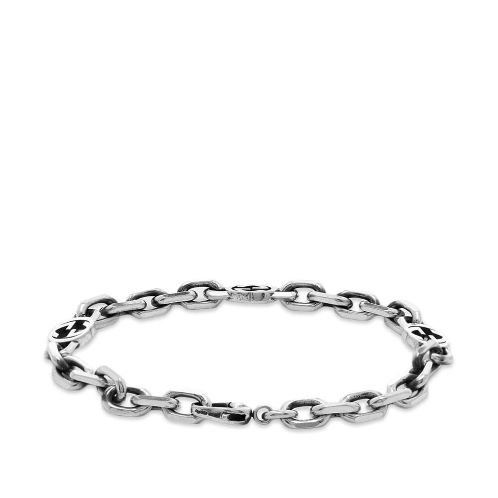 Gucci Interlocking G Bracelet M - Aged Sterling Silver