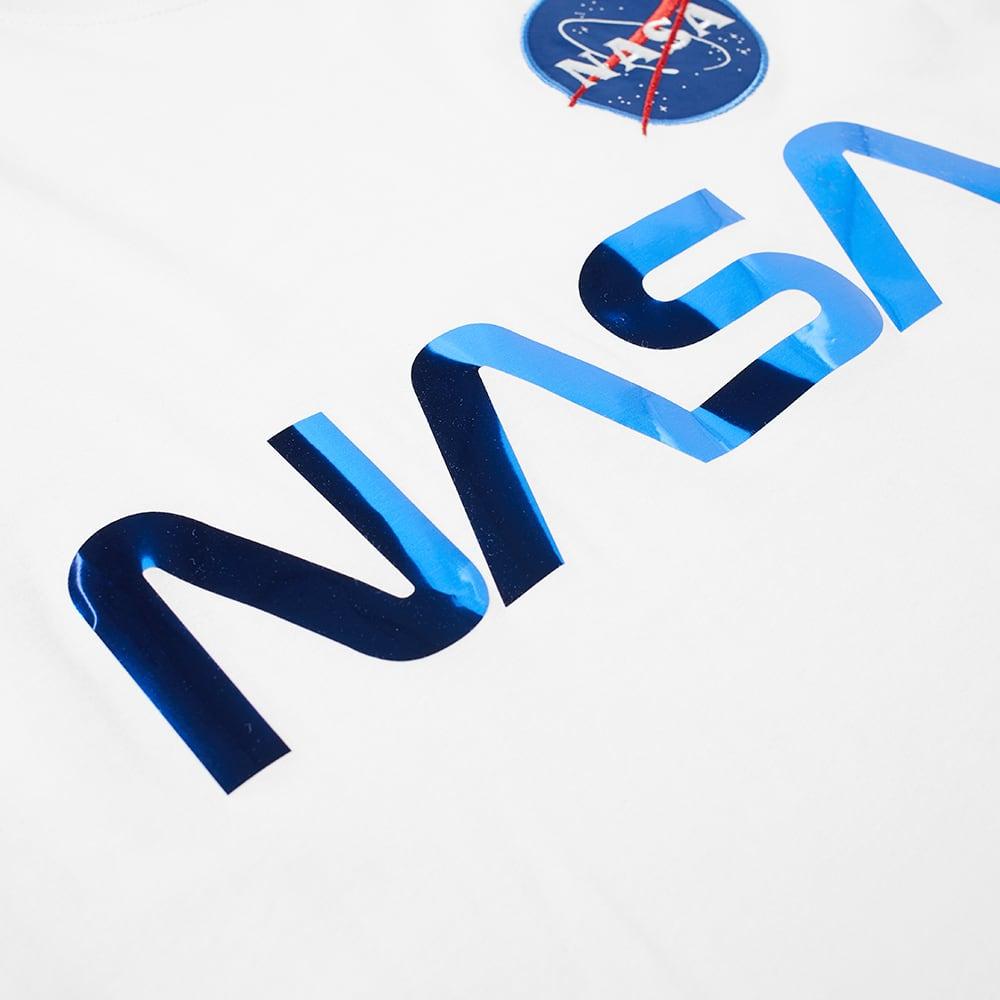 Alpha Industries NASA Reflective Tee - White & Blue