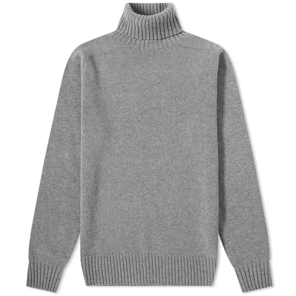 Officine Générale Seamless Turtleneck Knit - Grey
