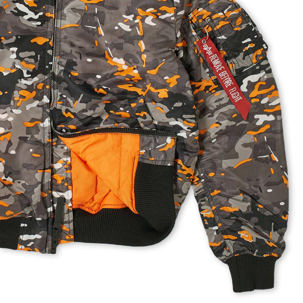 Alpha Industries MA-1 VF 59 Flight Jacket - Black Orange Camo
