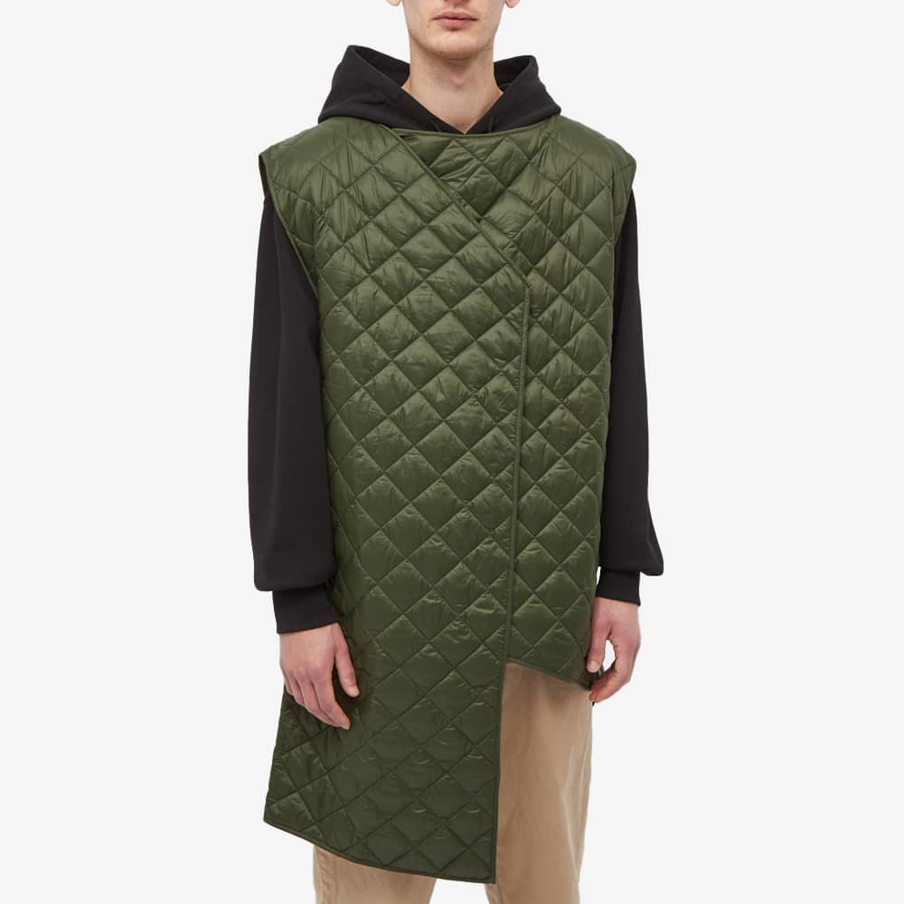Barbour x Engineered Garments Shallow Shawl Quilted Jacket - Olive
