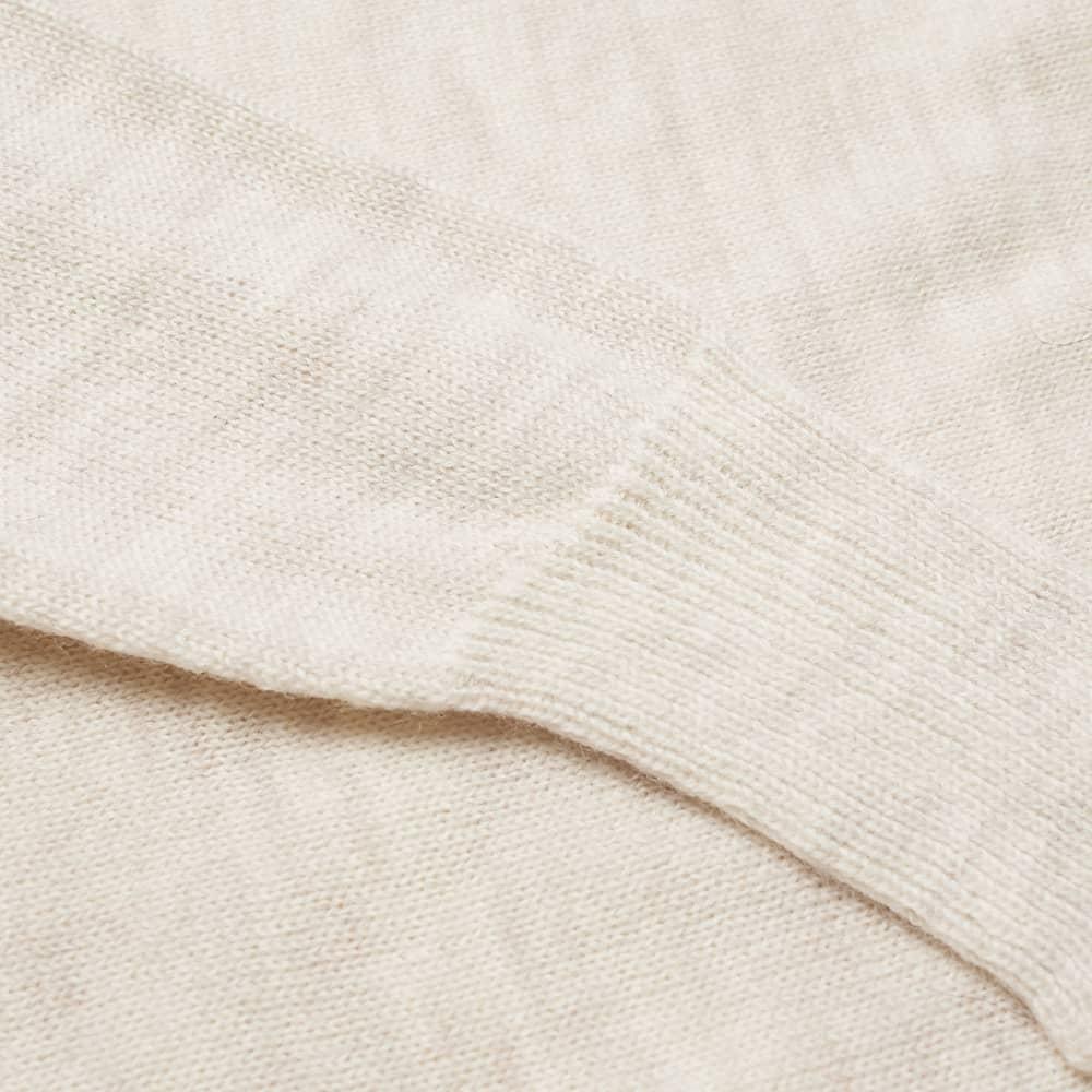 Nigel Cabourn Seamless Rollneck Knit - Natural