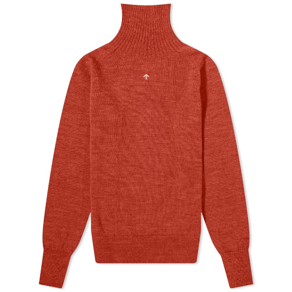Nigel Cabourn Seamless Rollneck Knit - Orange