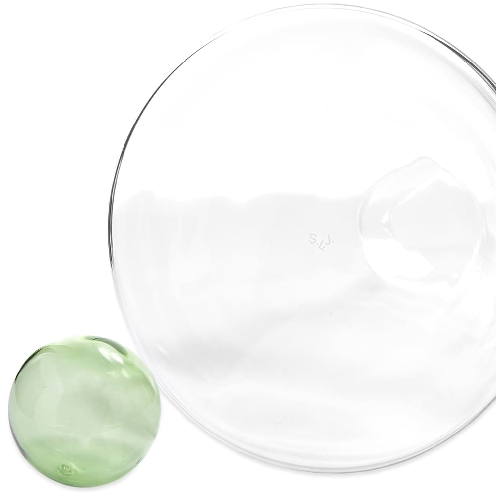 Sophie Lou Jacobsen Handle Vase - Clear & Green
