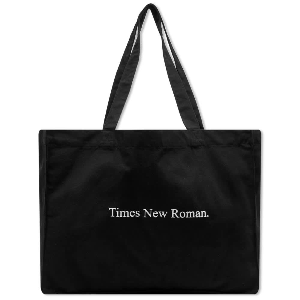 Times New Roman Classic Logo Organic Tote - Black