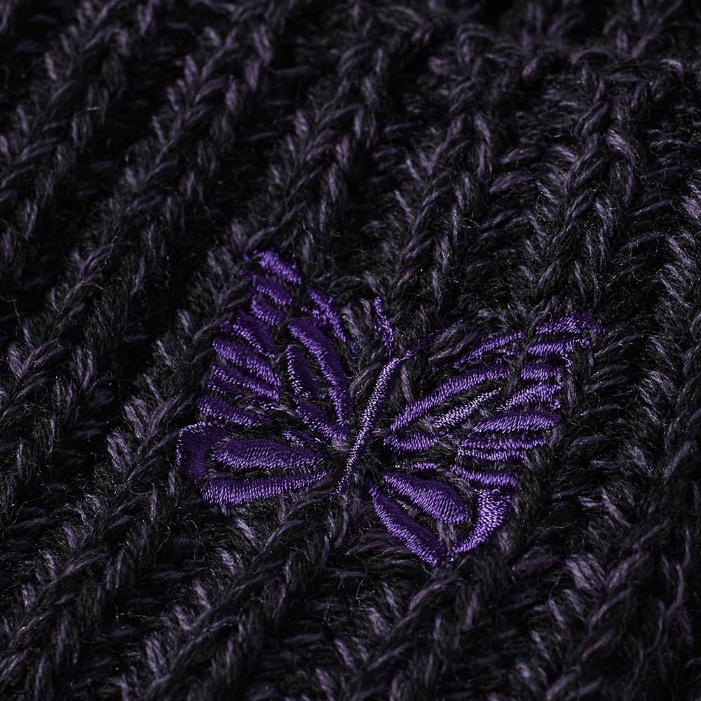 Needles Wool Logo Beanie Hat - Purple
