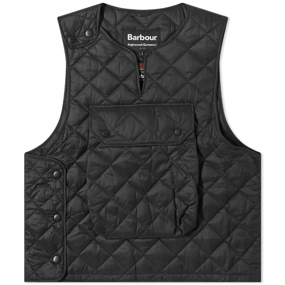 Barbour x Engineered Garments Pop Quilted Vest - Black