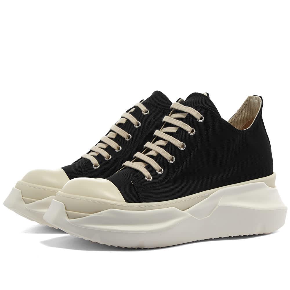 Rick Owens DRKSHDW Abstract Sneak Cotton Twill Low Sneaker - Black & Milk
