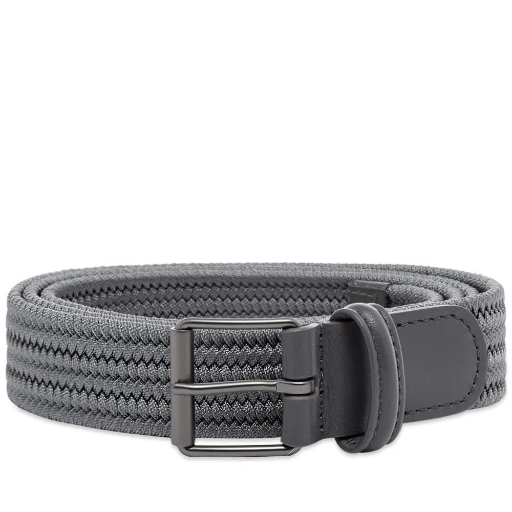 Anderson's Slim Woven Textile Belt - Grey