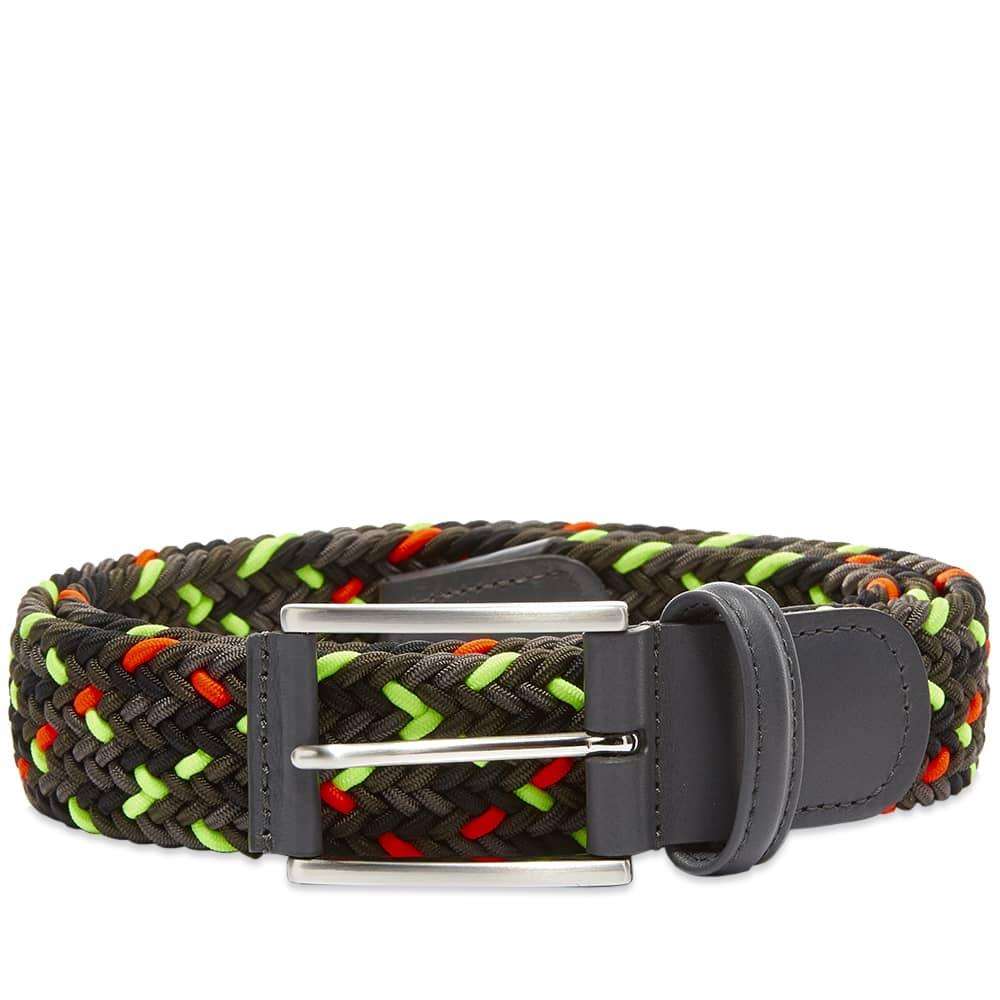 Anderson's Woven Textile Belt - Black, Charcoal & Neon