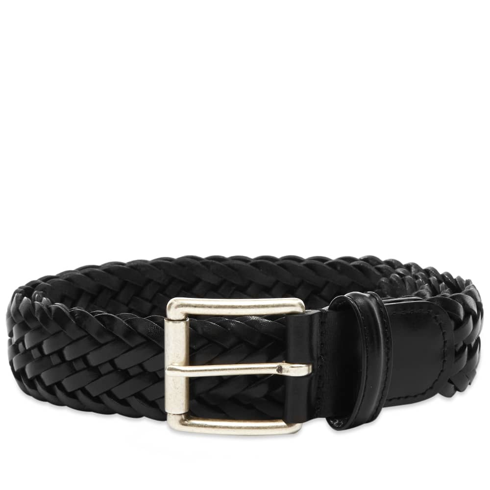 Anderson's Woven Leather Belt - Black