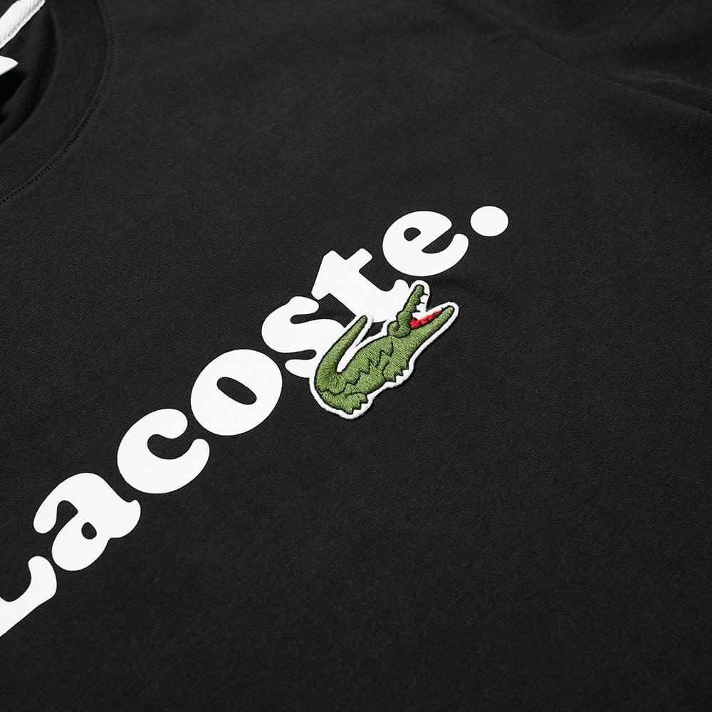 Lacoste Text Logo Tee - Black