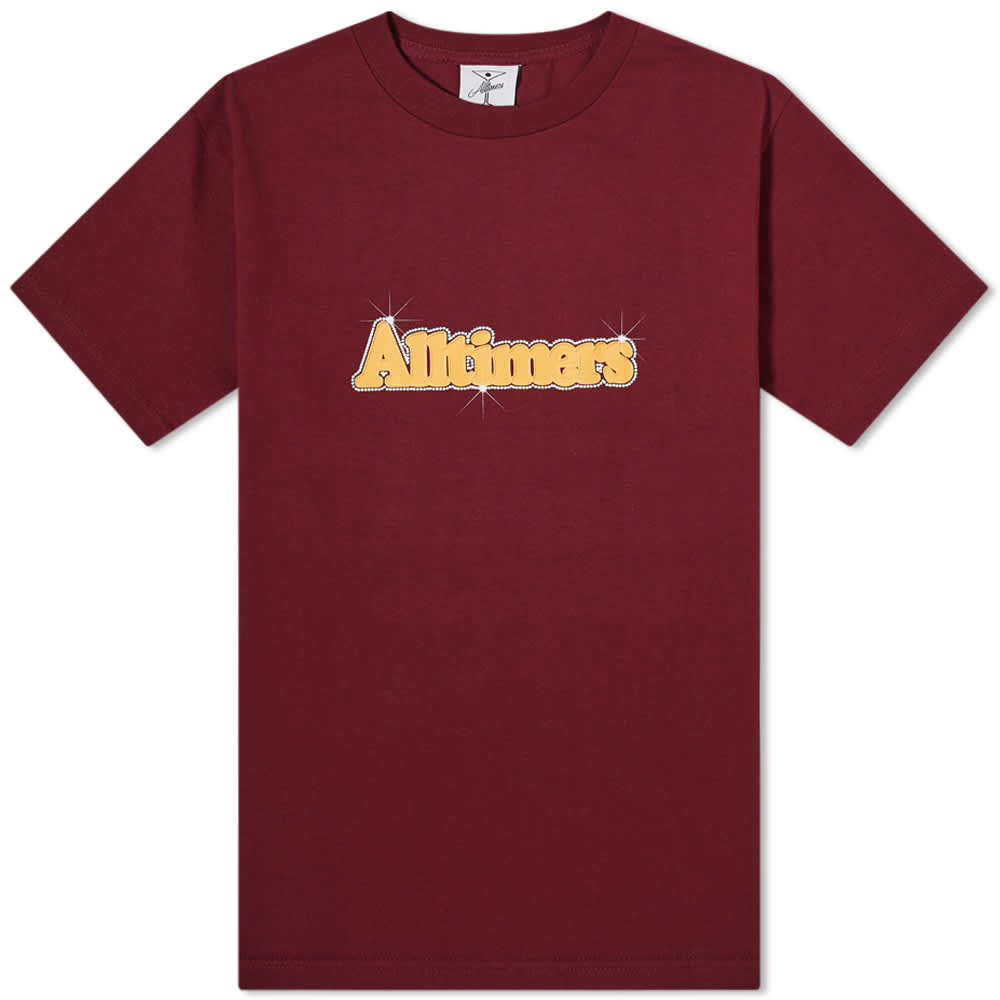 Alltimers Barbay Broadway Logo Tee - Burgundy