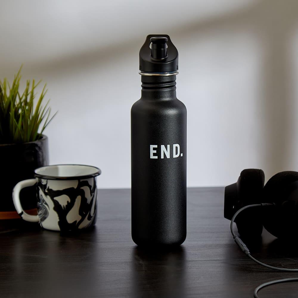 END. x Klean Kanteen Single-Walled Sport 3.0 Bottle - Shale Black 800ml