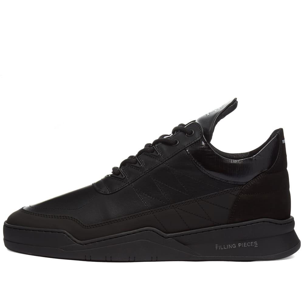 Filling Pieces Low Top Ghost Tweek Sneaker - All Black