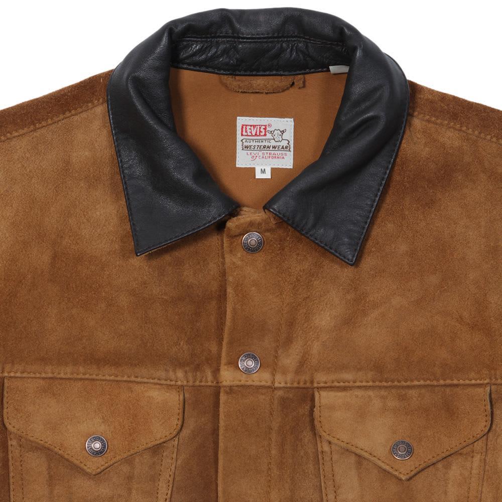Levi's 1950s Vintage Suede Trucker Jacket - Rubber