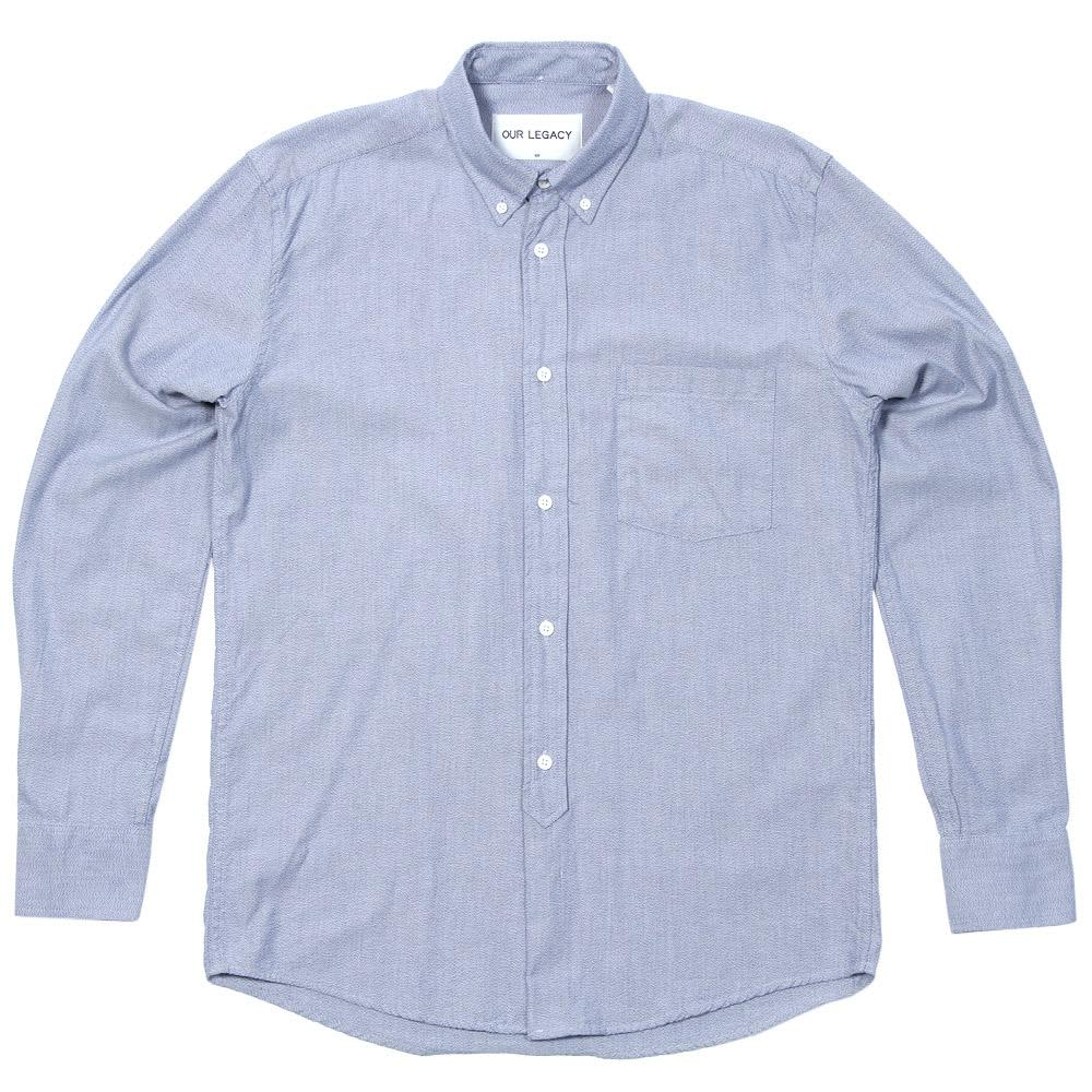 Our Legacy 1940s Button Down Shirt - Twisted Blue Vintage Oxford
