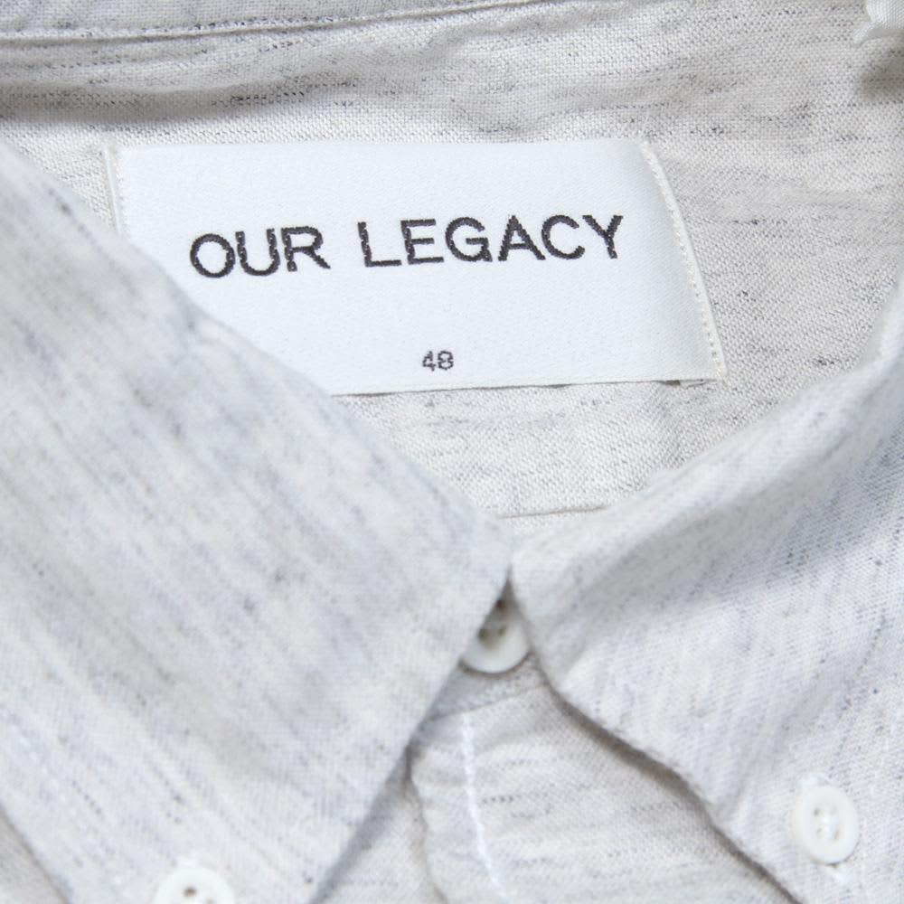 Our Legacy 1950s Button Down Shirt  - Soft Grey Melange
