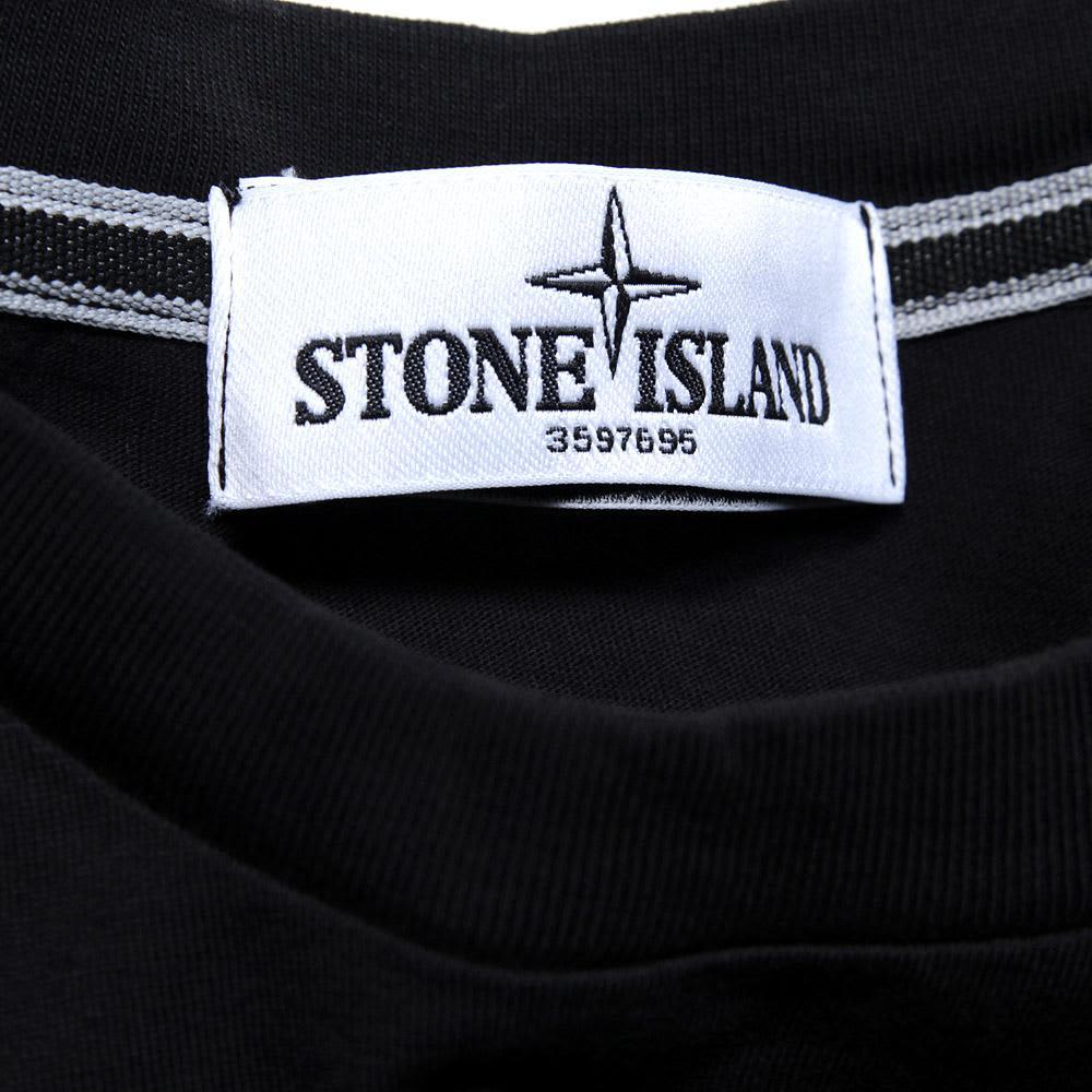 Stone Island Compass Logo Tee - Black