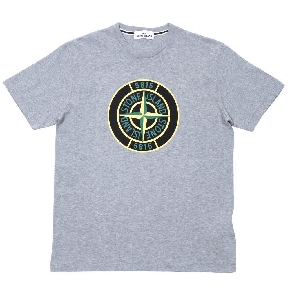 Stone Island Compass Logo Tee - Grey
