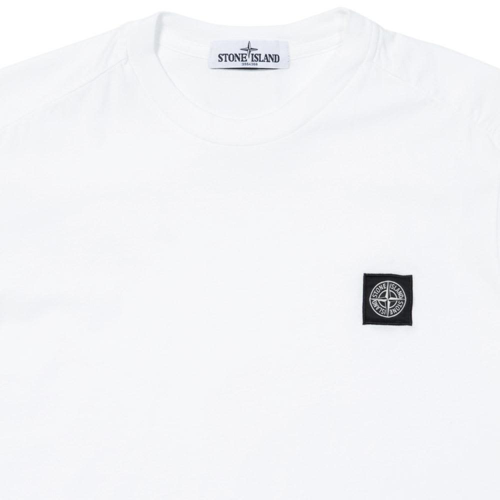 Stone Island Woven Patch Logo Tee - White