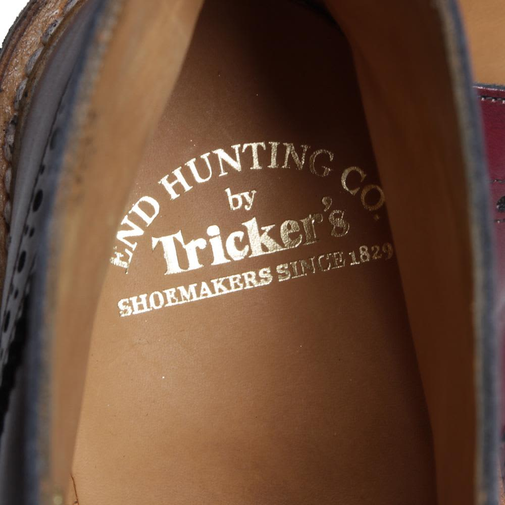 Tricker's for End Hunting Co. 'Oxblood' Stow Brogue Derby Boot - Oxblood & Acorn