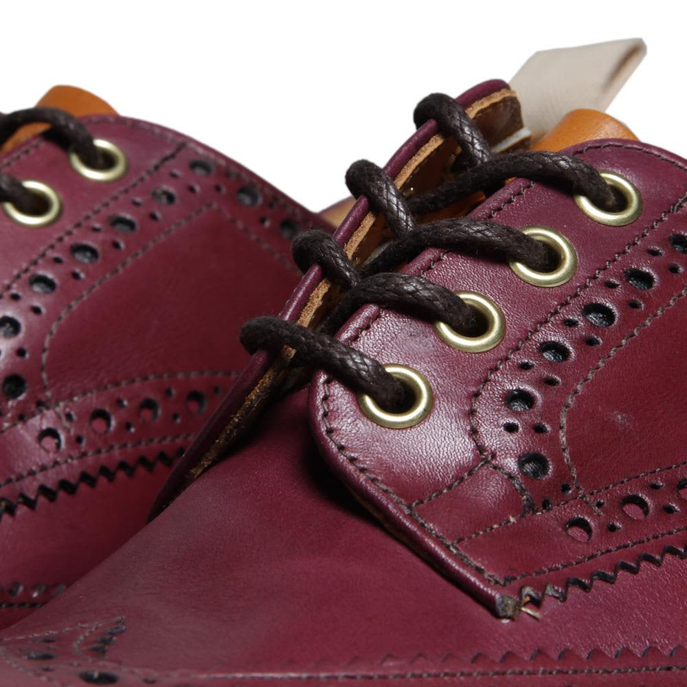 Tricker's for End Hunting Co. 'Oxblood' Bourton Derby Brogue - Purple & Acorn
