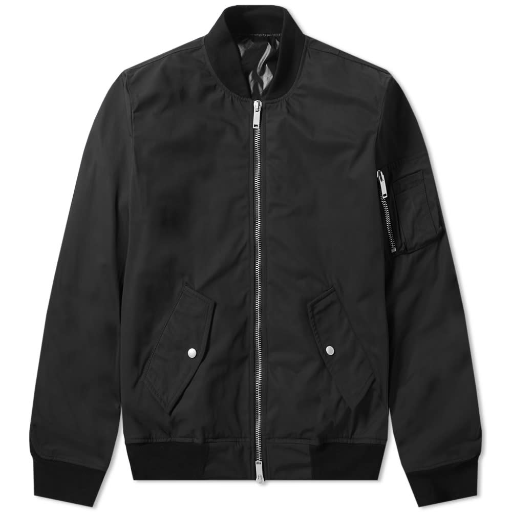 Unravel Project Tuxedo Nylon Bomber Jacket - Black