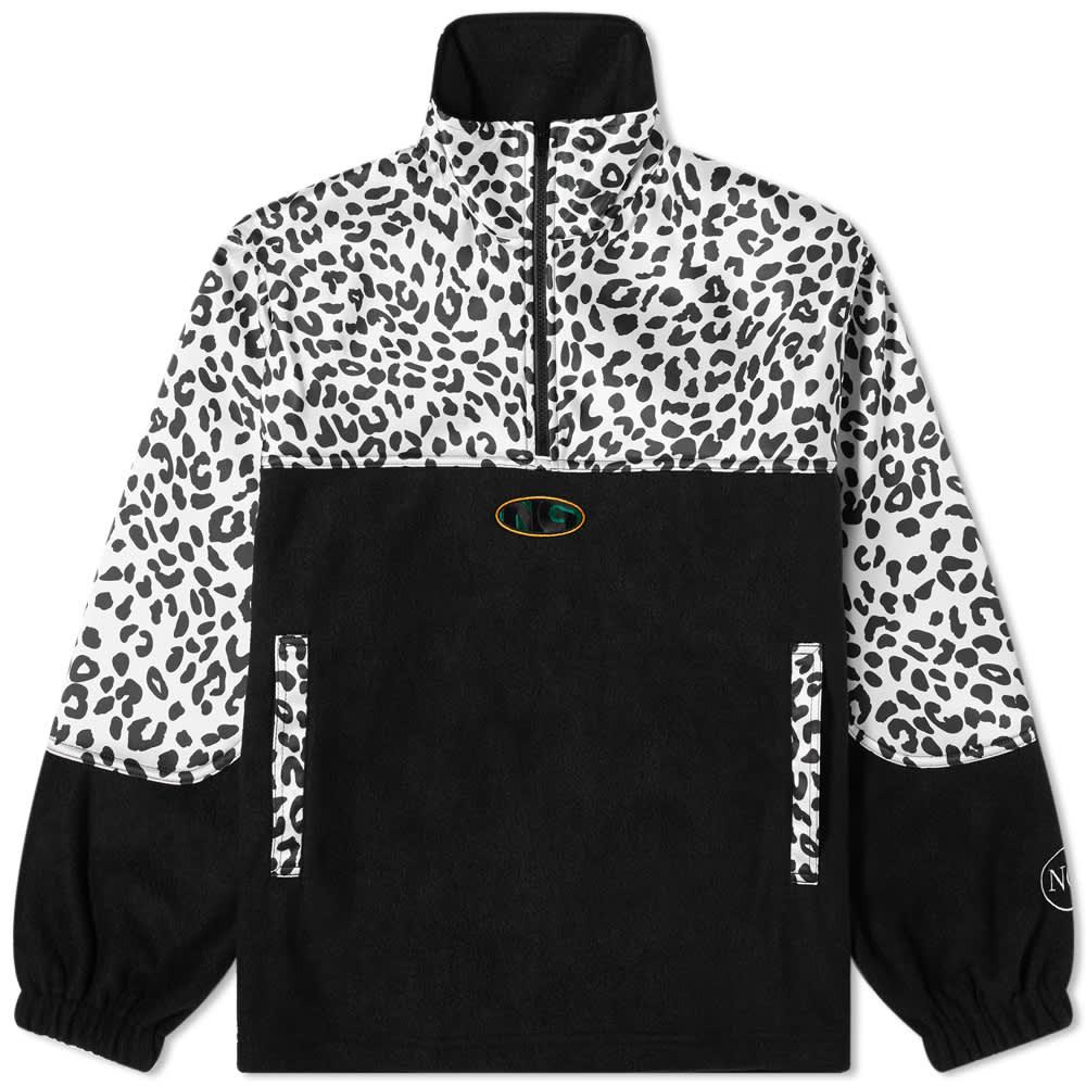 Noon Goons Leopard Half Zip Polar Fleece