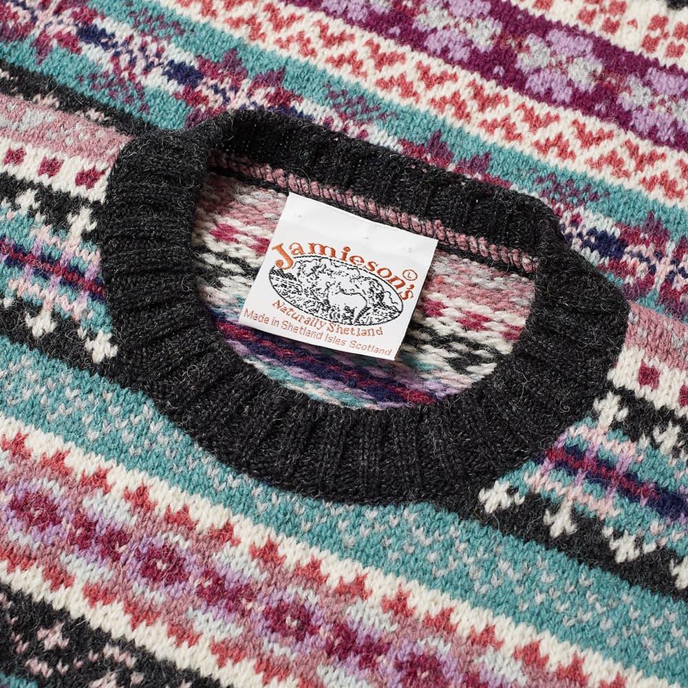 Jamieson's of Shetland Fair Isle Crew - Peat