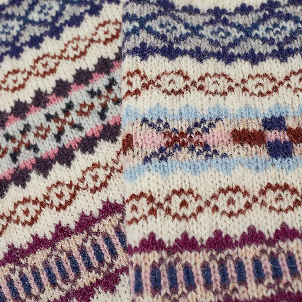 Jamieson's of Shetland Fair Isle Scarf - Ecru