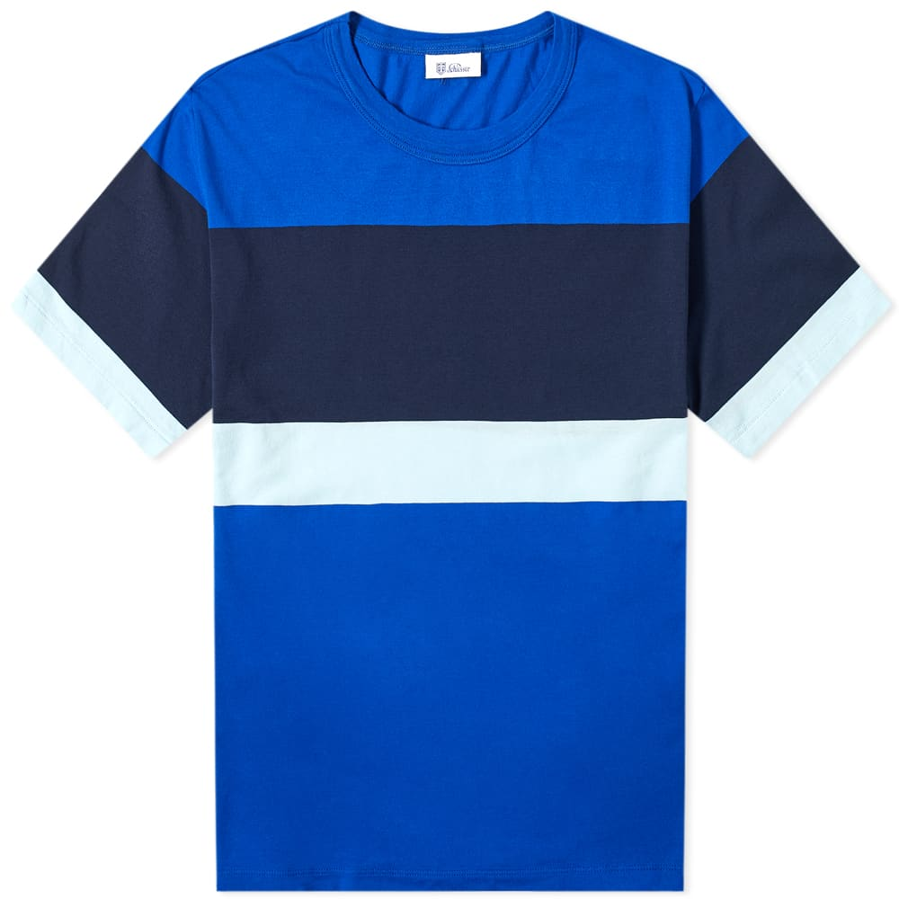 Schiesser Striped Georg Tee - Atlantic Blue, Grey & Navy