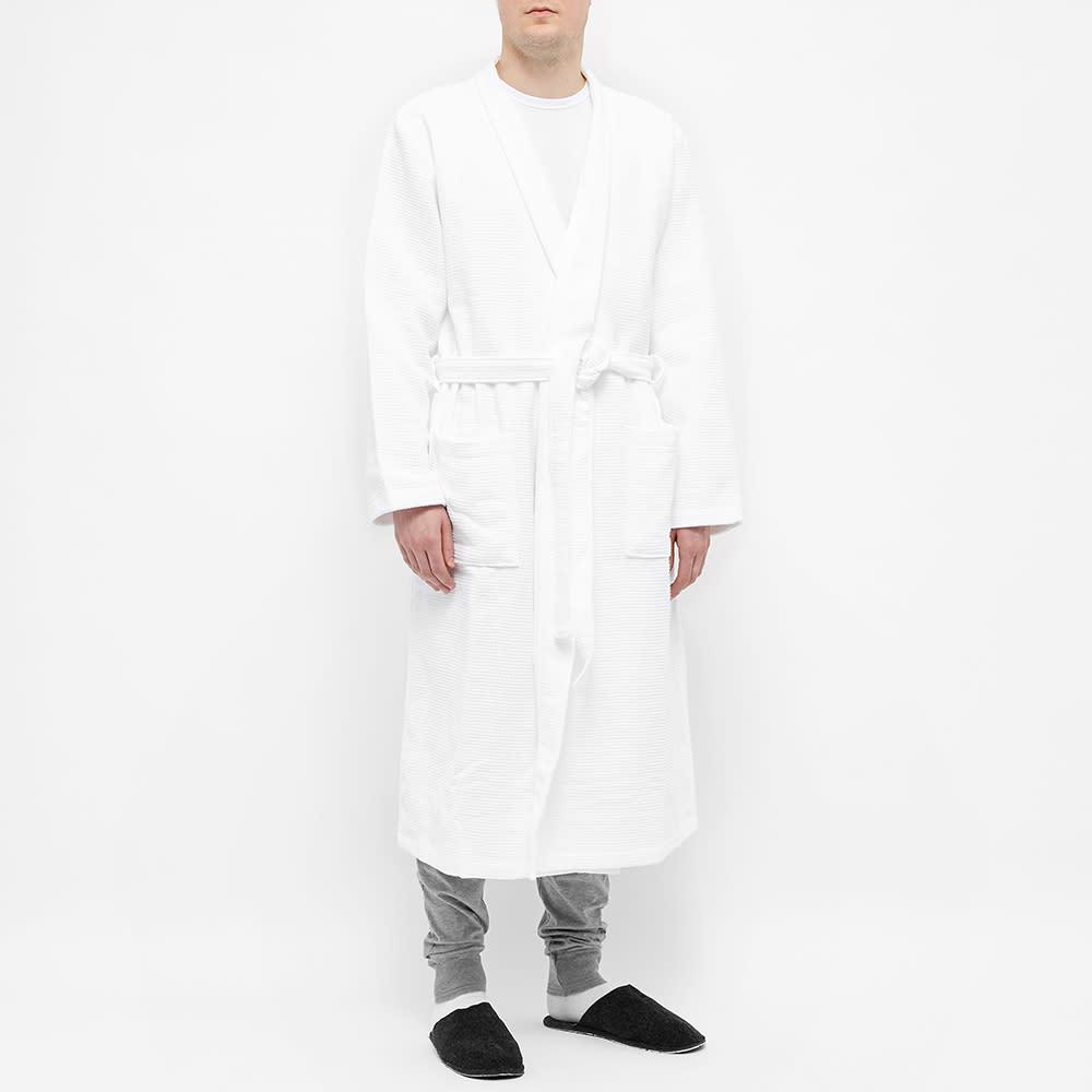 Schiesser Waffle Bath Robe - White